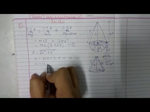 Chapter 13 Exercise 13.1 (Q1 Q2 Q3) Surface Areas and Volumes Class 10 Maths NCERT