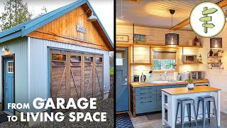 Garage Converted into AMAZING Modern Living Space - Tiny Home Tour
