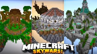 NEW EPIC MAPS! (Must See) | Minecraft SOLO SKYWARS