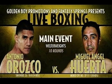 Antonio Orozco Miguel Huerta weigh-in footage + Interview!