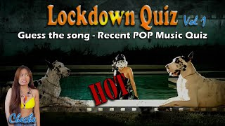 Lockdown Quiz #1 | Quarantine pub quiz guess the song little tiny quiz of the lockdown Recent POP