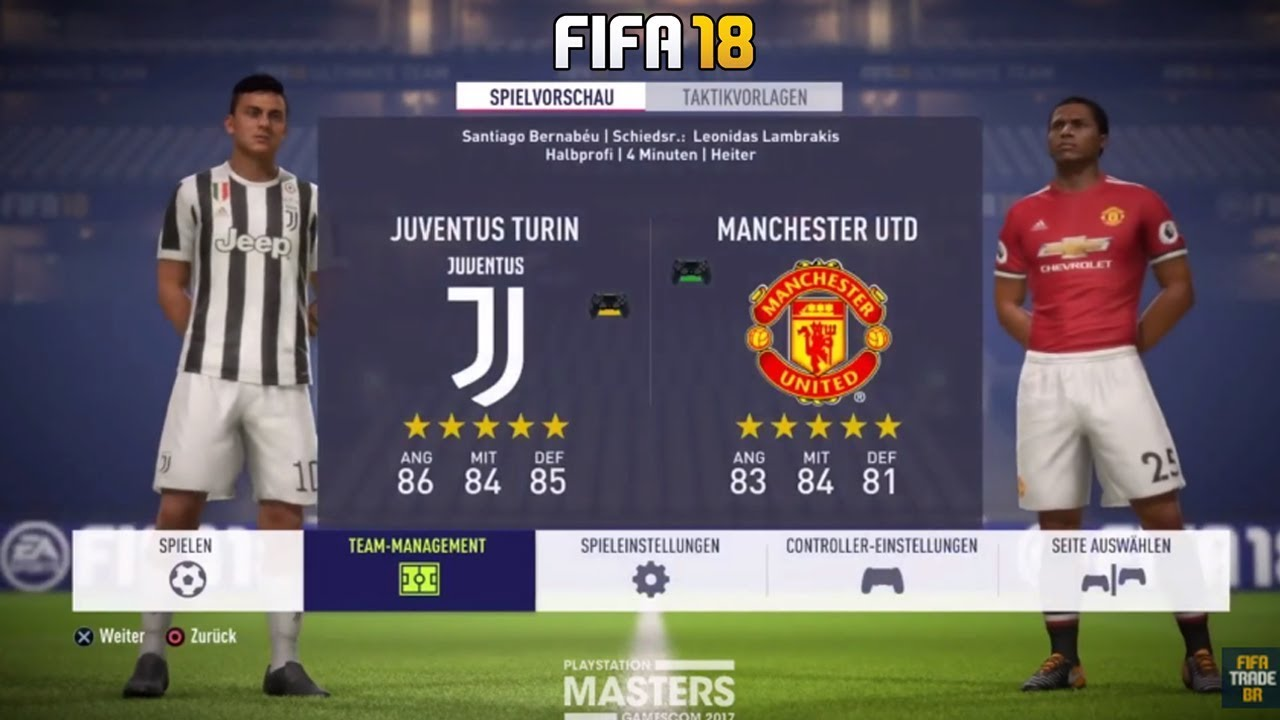 Fifa  Juventus Vs Manchester United Full Match Gameplayps Xbox One Hd P Fps