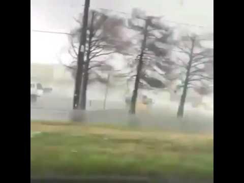 Amateur video of a tornado. New Orleans, Louisiana 07/02/2017