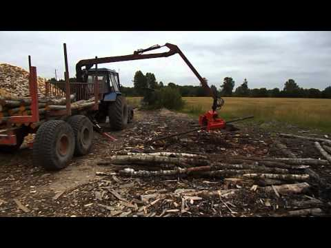 Грейферный захват DGM20 -работа с лесом, опилками , щепой