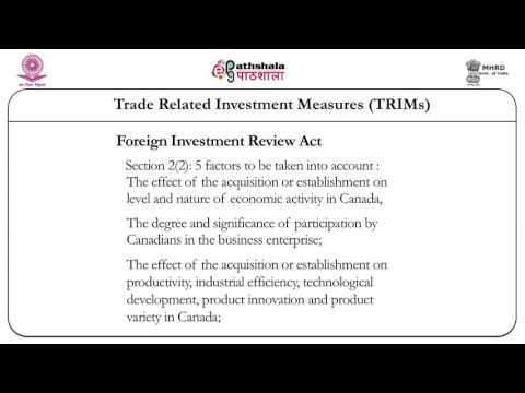 Trade related investment measures (TRIMs) (Law)