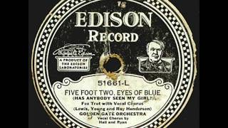 Golden Gate Orch. - Five Foot Two, Eyes Of Blue - 1925 California Ramblers