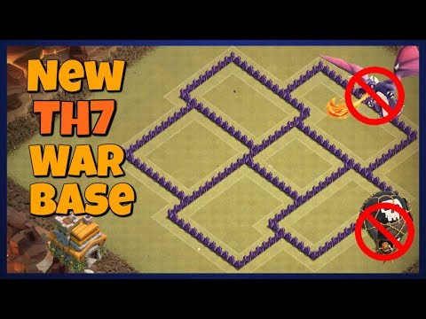 Best TH7 Anti 3 Star War Base 2019 | Clash Of Clans