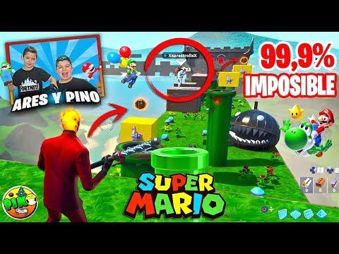 PARKOUR MARIO BROSS 99.9% IMPOSIBLE EN FORTNITE!!! PINO & ARES