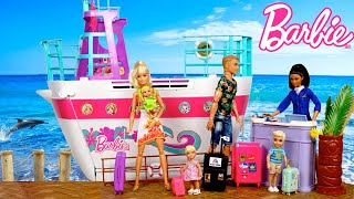 Barbie & Ken Family Travel Routine on Doll Cruise Ship