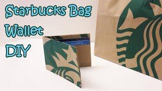 Starbucks Bag Wallet Transformation DIY   Sunny DIY