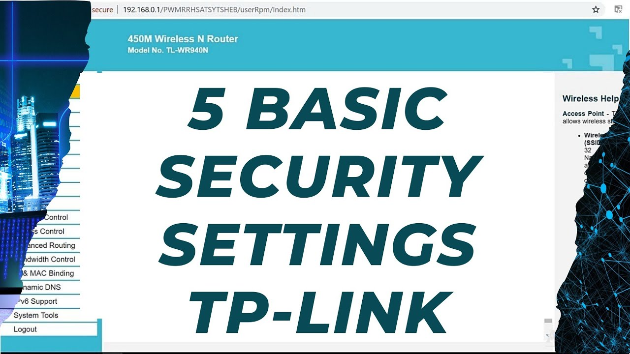 TP-Link router 5 basic security settings Protect your wireless tp link  router