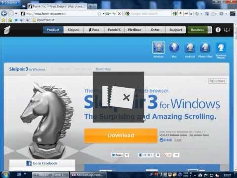 Introduction to Sleipnir 3 for Windows Web Browser