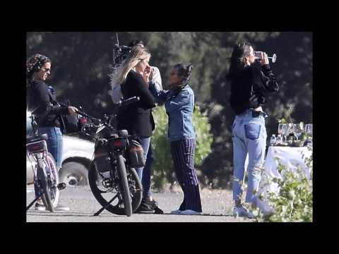Kendall Jenner with Khloe Kardashian and Kourtney Kardashian at a vineyard in Santa Barbara.