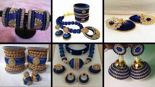 efccff099 SHALINI'S LADIES CORNER :: ROYAL BLUE SILK THREAD JEWELLERY COLLECTION FOR U