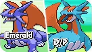 Pokémon Emerald Vs. Diamond/Pearl : All Sprite Animations Comparison (HQ)