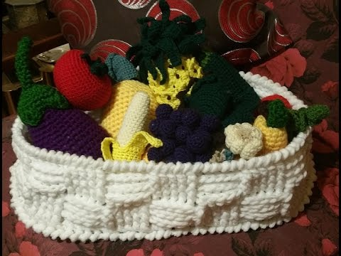 Tutorial Cestino Alluncinetto Crochet Basket Cesta Crochet