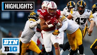 Highlights: Taylor and Badgers Run Past Iowa | Iowa at Wisconsin | Nov. 9, 2019