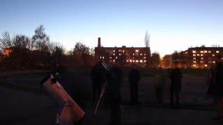 Практические занятия по астрономии 16.04.2016 и 3.05.2016 (time-lapse)