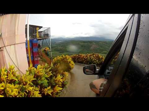 Costa Rica 2015, Go-Pro Mountain Driving, Great Hostel Find, Talamanca Mountains.