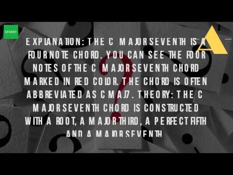 What Is A Cmaj7 Chord On Piano Youtube