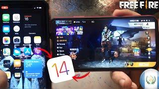 ASI CORRE el FREE FIRE con iOS 14 en el IPHONE XR *epico