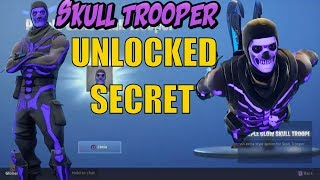 FORTNITE #How pour débloquer Secret PURPLE GLOW Skull Trooper! Nouvelle mise à jour SKULL TROOPER! Bataille Royale.