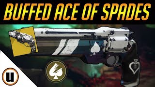 EVEN BETTER NOW! | Buffed Ace Of Spades | Destiny 2 Black Armory