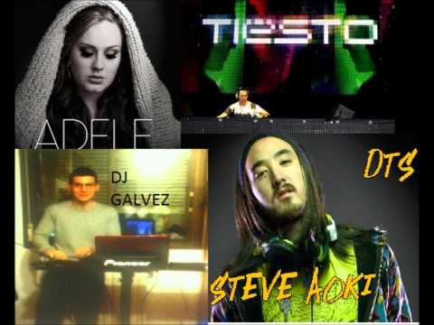 DJ GALVEZ ft adele, Tiesto & Steve Aoki - set fire to the rain vs tornado