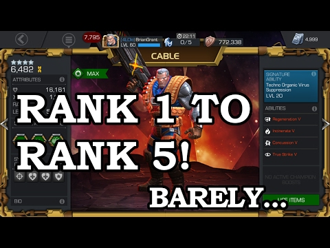 Cable Level Up Rank 1 to Rank 5 | Marvel Contest of Champions