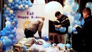 оформление детского праздника воздушными шарами в стиле Baby Boss