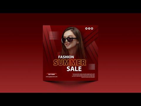 How To Design Social Media Banner - Adobe Photoshop Cc