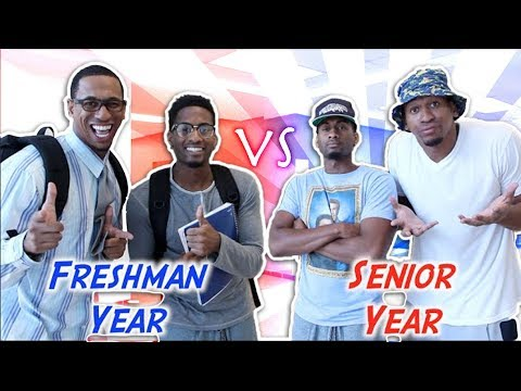 High School Freshman Year vs Senior Year - YouTube