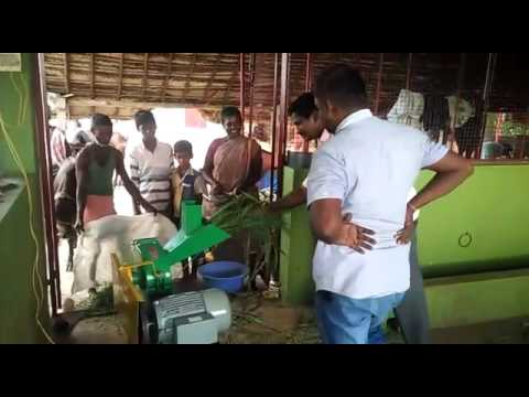 Animal feed machine 2d model cutting green fodder