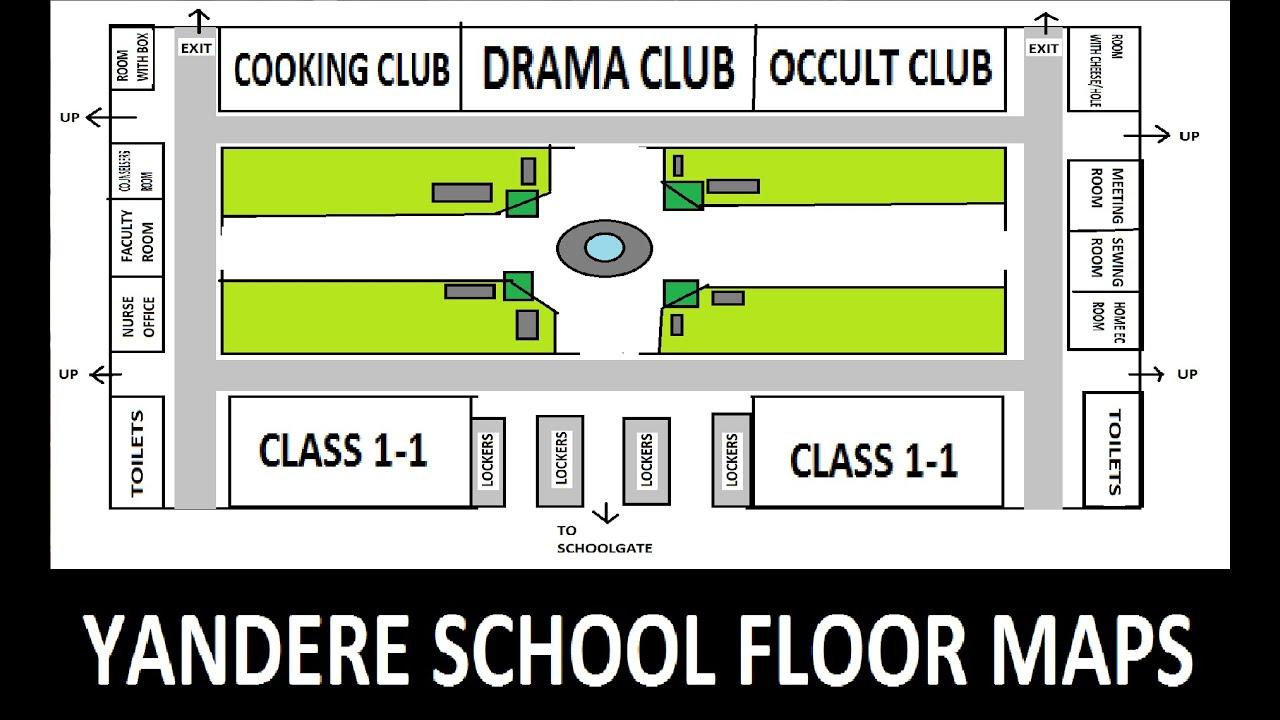 Floor Plan Simulator.YANDERE SCHOOL FLOOR MAPS Yandere ...