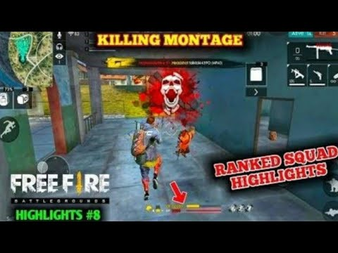 Free Fire Killing Montage Rank Mode Best Gameplay Youtube