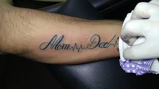 Mom Dad Heartbeat Tattoo