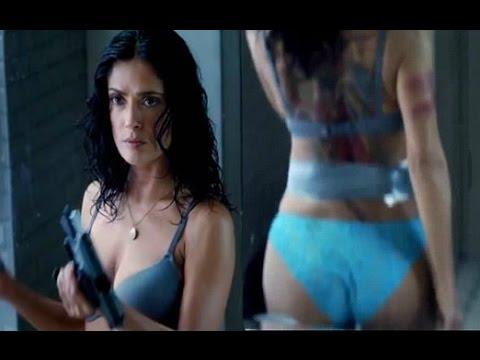 Everly Official Trailer  Salma Hayek Hot Stripping
