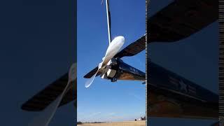 Chicago AeroFan - Industrial Commercial Airplane Ceiling Fan. Fan Running