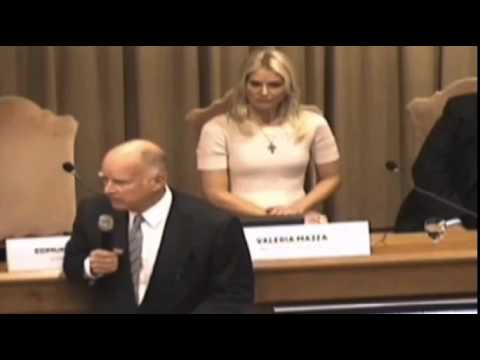 Gov. Jerry Brown Speaks at the Vatican - July 2015