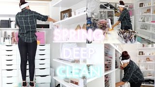 SPRING DEEP CLEAN/DECLUTTER MY STUDIO | BEAUTYYBIRD
