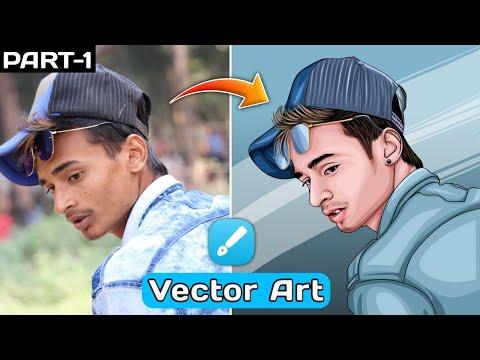 Vector Art Design Tutorial | Vector Portrait | Cartoon Art Photo Editing In Infinity Design (Part 1)