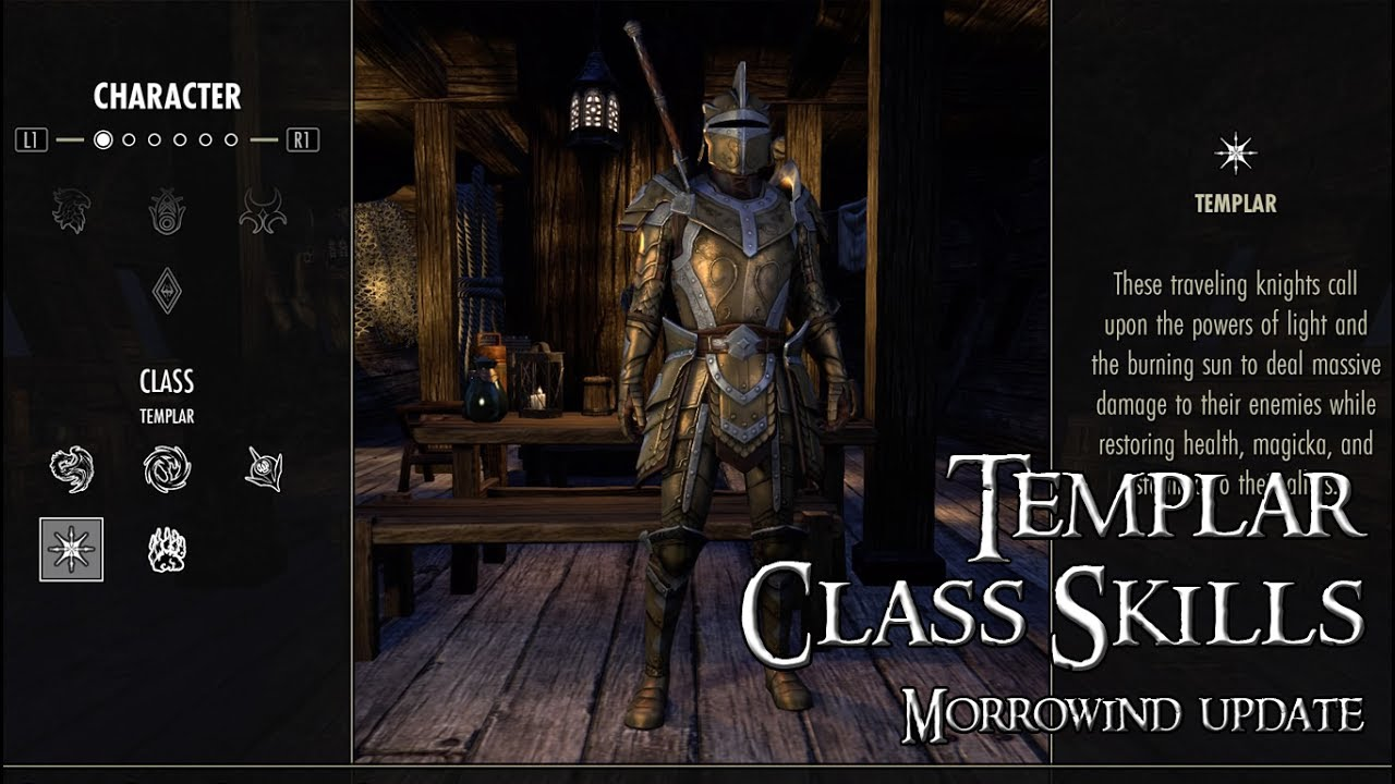 ESO Guide | Templar All Skill Class and Morphs // Morrowind Update