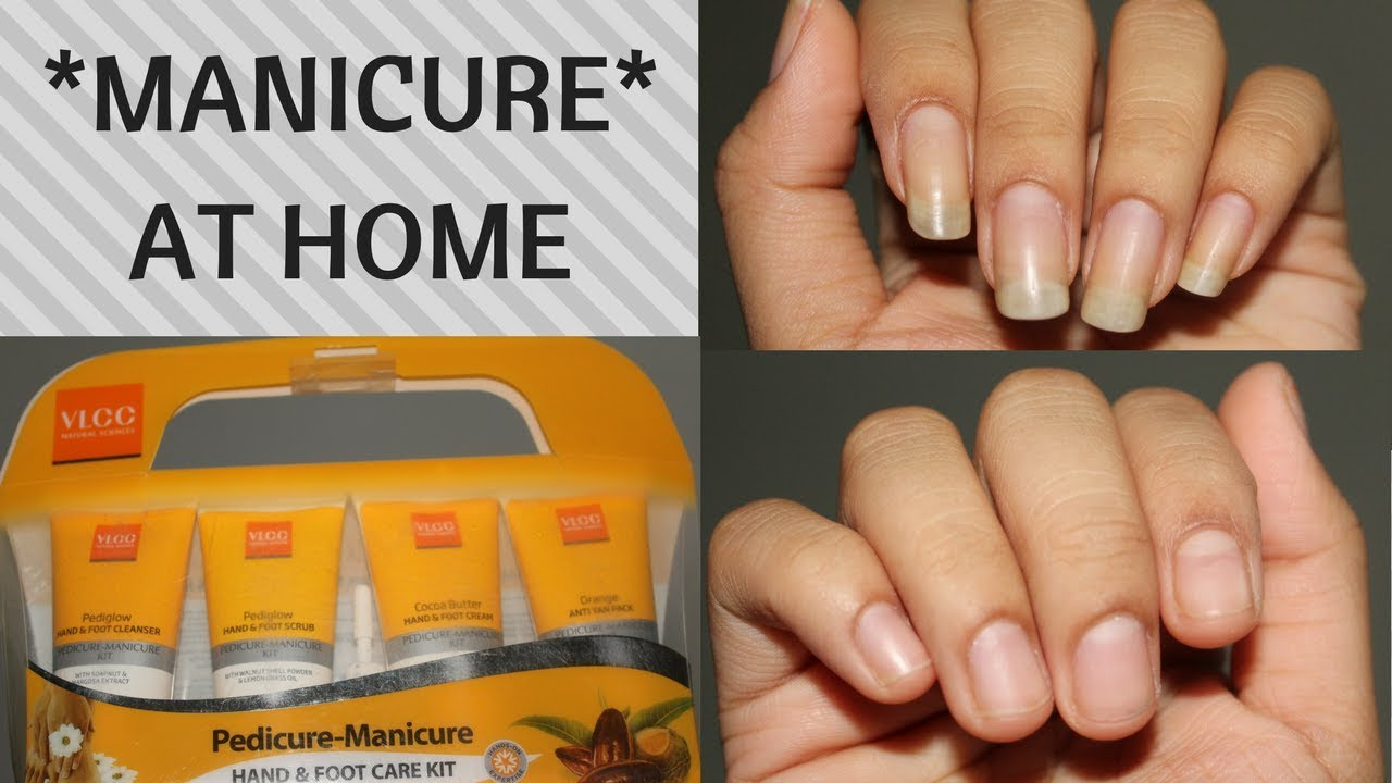 MANICURE* AT HOME using VLCC manicure pedicure kit | Enaildiaries ...