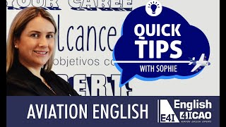 Quick Tips- Aviation English - ICAO