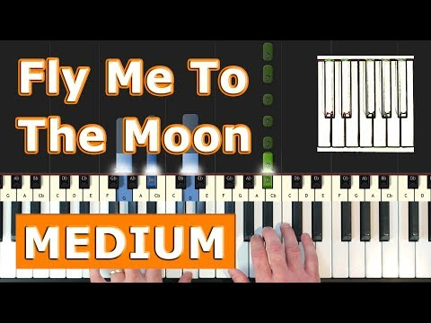 Fly Me To The Moon (MEDIUM) - Piano Tutorial Easy - Sheet Music (Synthesia) thumbnail