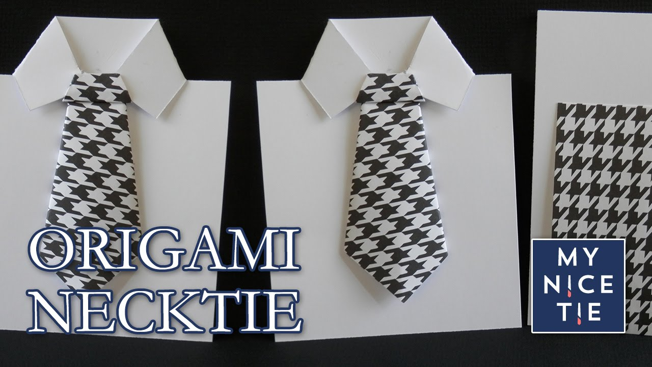 How to fold an origami necktie greeting card with origami shirt how to fold an origami necktie greeting card with origami shirt youtube m4hsunfo