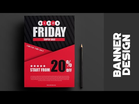 Black Friday Sale Banner | How to design Banner in photoshop cs6