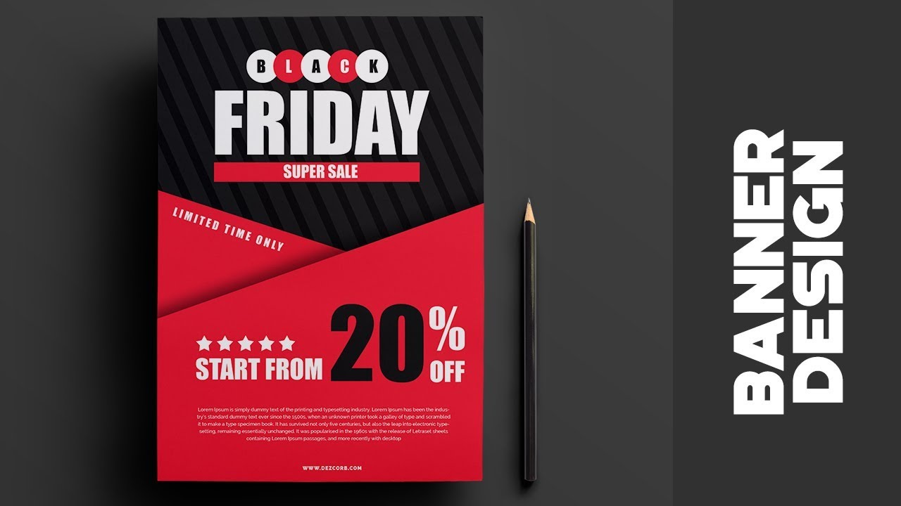 black friday sale banner how to design banner in photoshop cs6