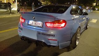 BMW M4 Liberty Walk LB Performance - Start up, Revs, Accelerations!