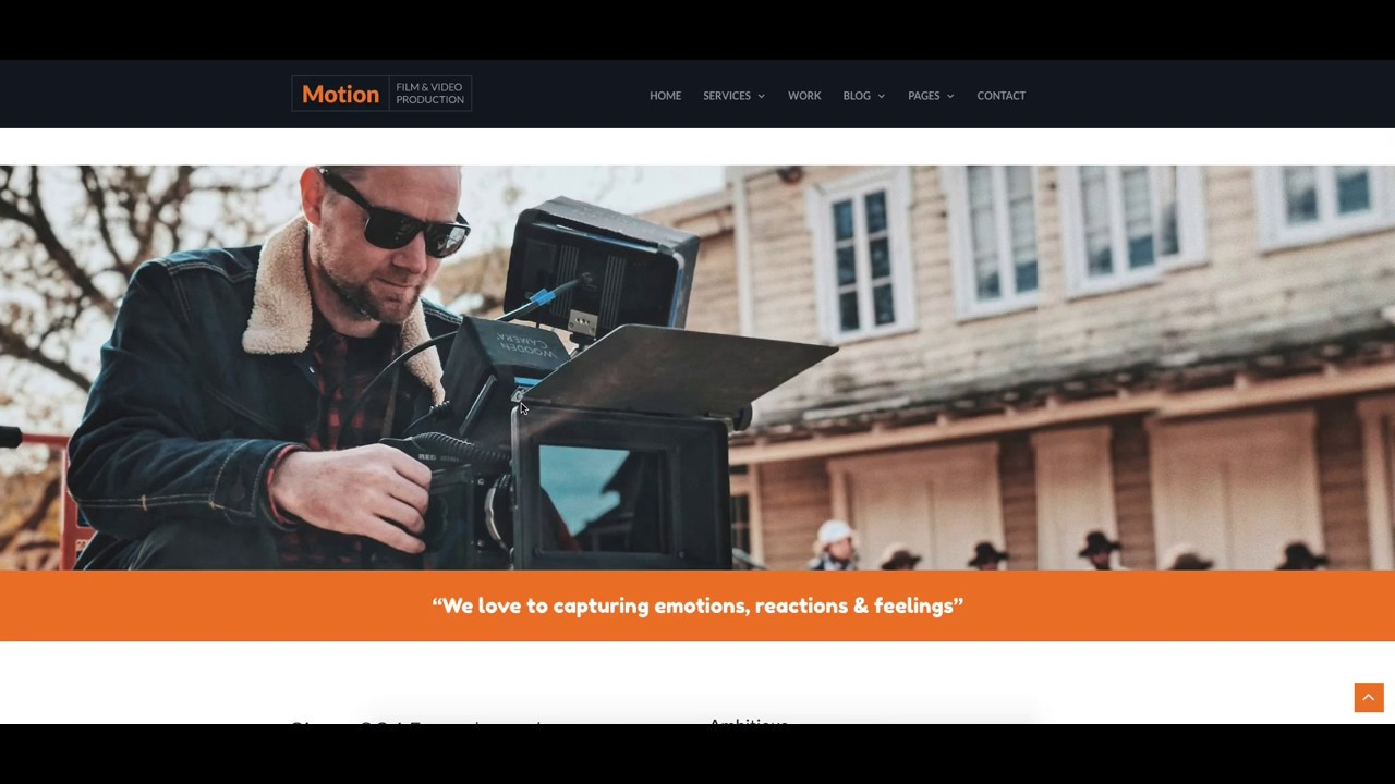Motion Video Production Company Website Template